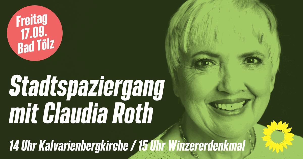 Claudia Roth (MdB) in Bad Tölz
