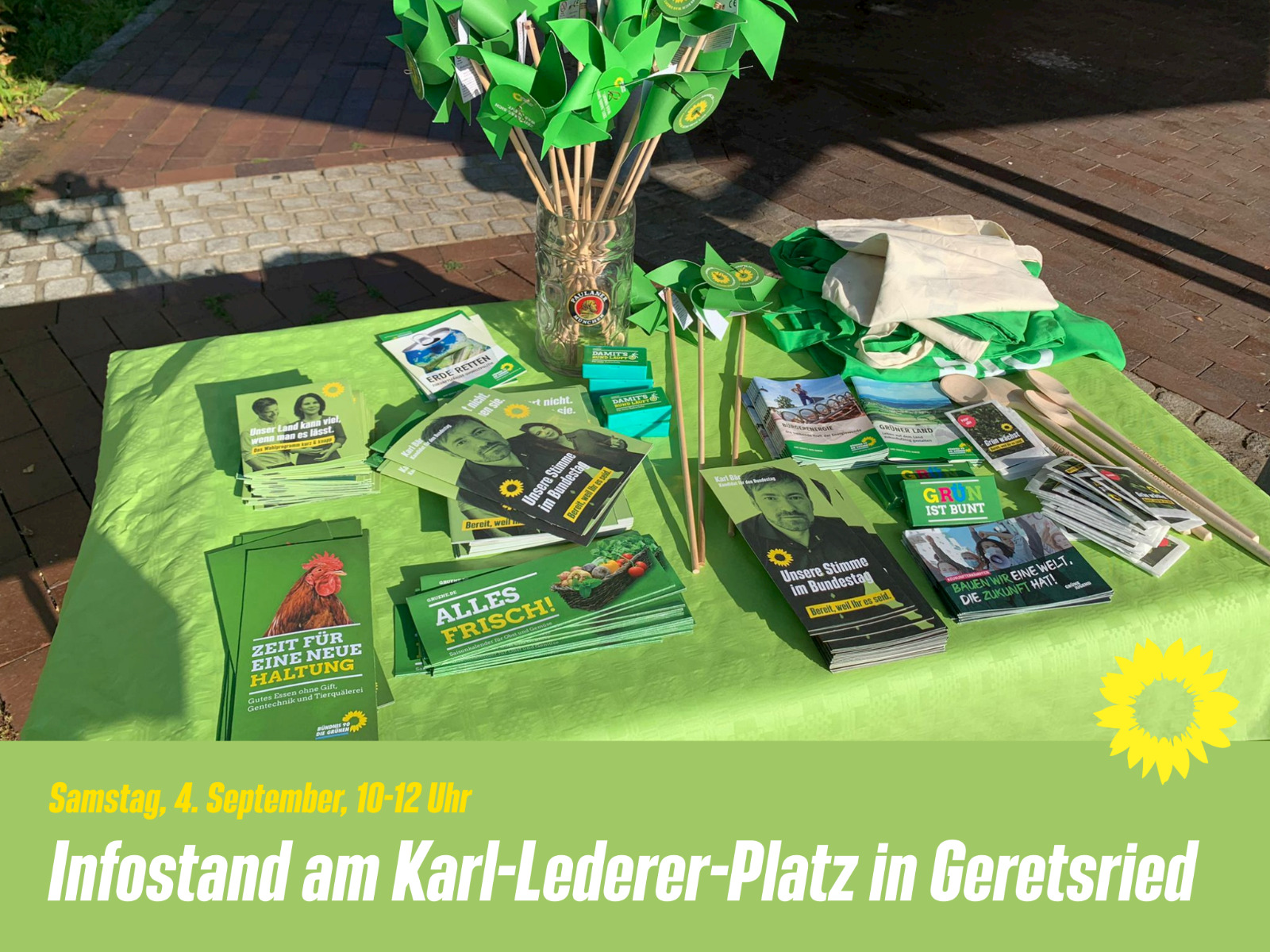 Infostand in Geretsried