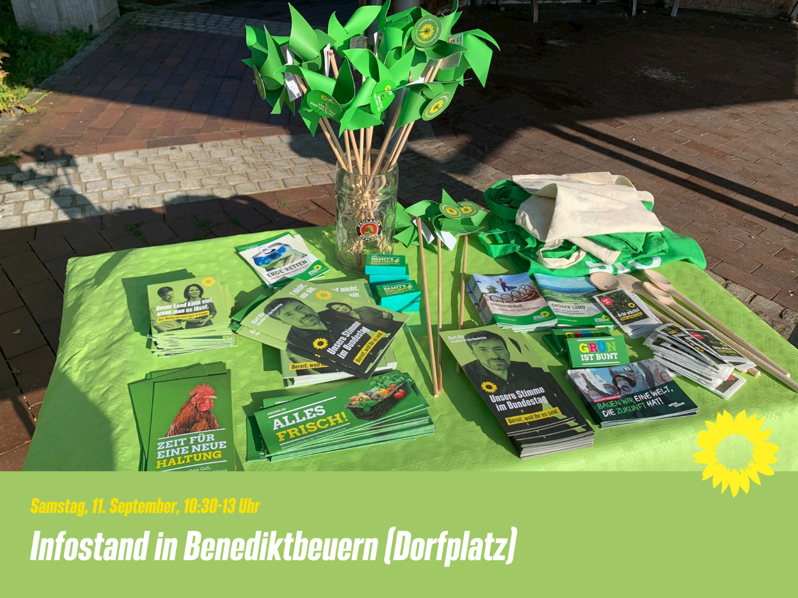 Infostand in Benediktbeuern