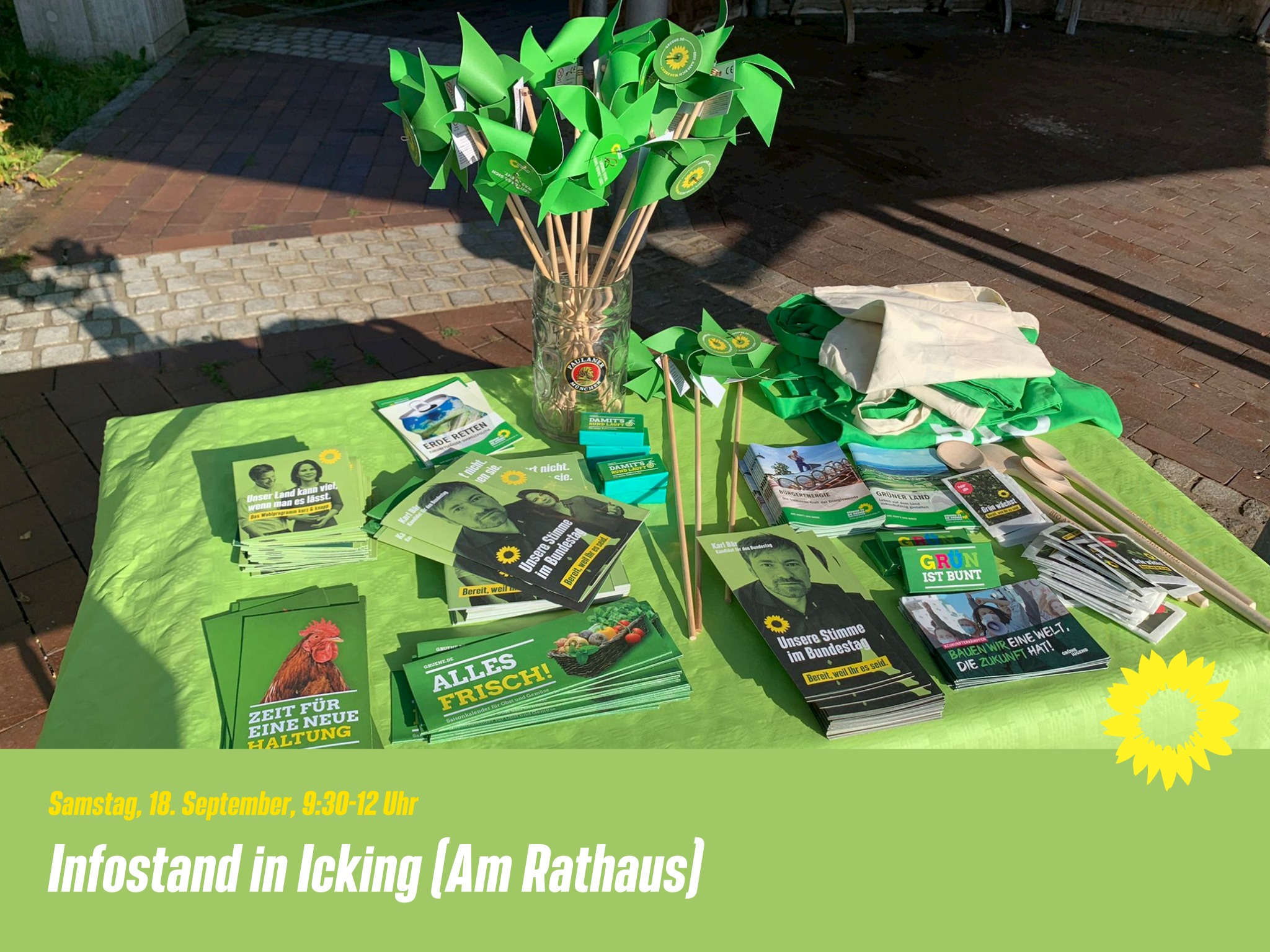 Infostand in Icking