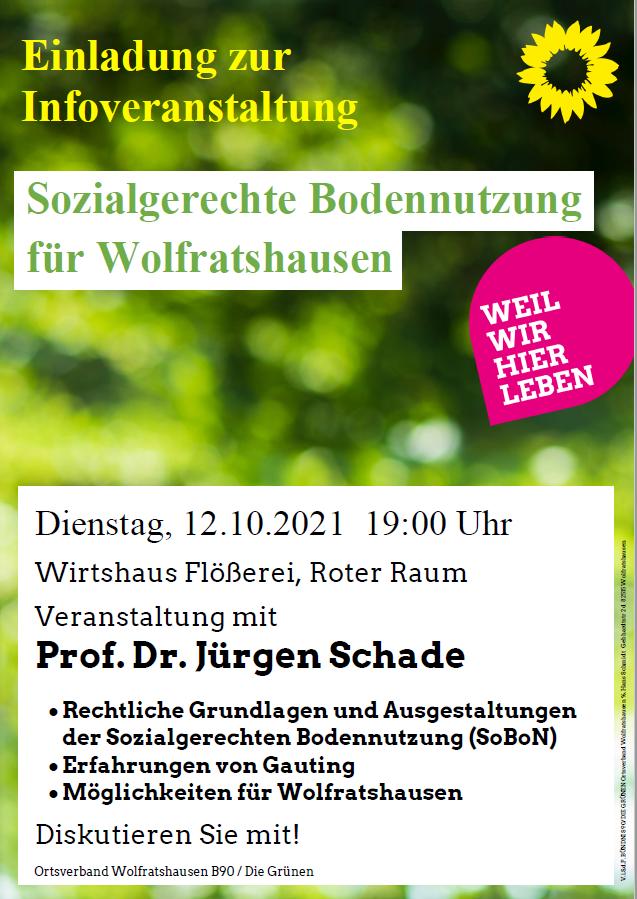 Sozialgerechte Bodennutzung für Wolfratshausen mit Prof. Dr. Jürgen Schade